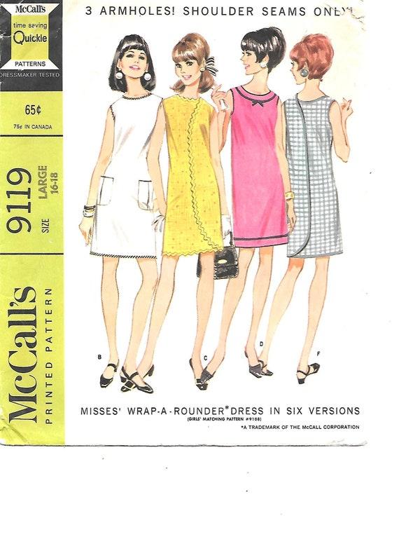 40s Wrap DRESS Vintage Sewing Pattern Wrap Around Dress Beauteous Wrap Around Dress Pattern