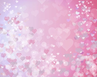 Heart print Heart bokeh Pink heart overlay Heart background Girls wall art print Girls wall decor printable Pastel photo overlay 2 SIZES