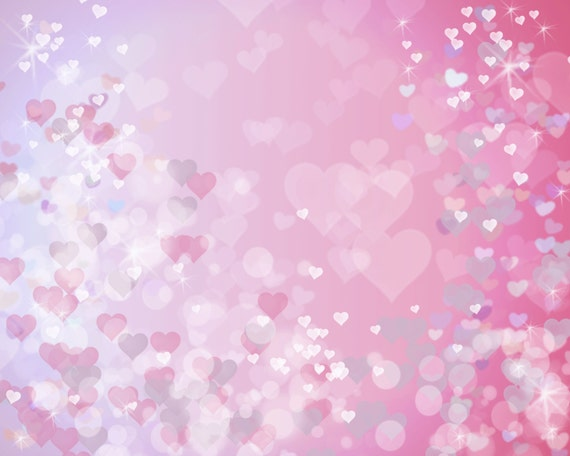 Heart Print Heart Bokeh Pink Heart Overlay Heart Background