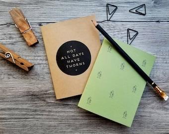 Handmade Mini Cactus Notebooks - Set of 2