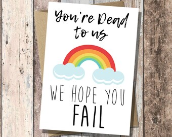 Funny New Job Card | Leaving Card | Good Luck New Job | Congrats New Job