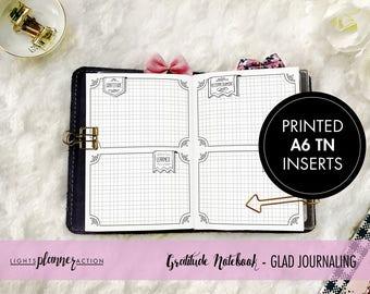 Gratitude Journal - GLAD Prompts | No3/A6 TN Inserts