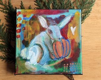 GHOST RABBIT - original 100 Stories painting