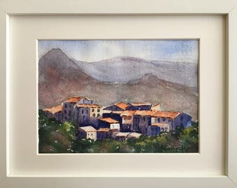 Bella Tuscany, Framed Original Watercolour Painting