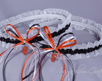 San Francisco Giants Lace Wedding Garter Set