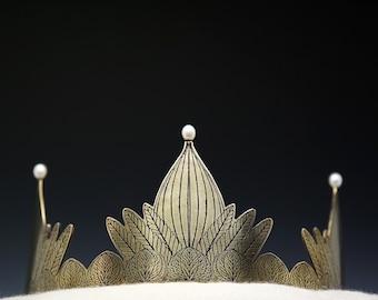 Wedding tiara, game of thrones, fairy tale wedding, princess tiara, fall wedding, brass tiara, gold crown, gold tiara, bridal crown, leaf