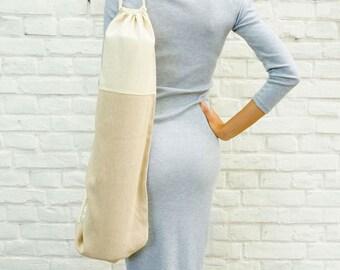 Beige Yoga Bag / minimal / cotton / eco / Hay Foyo