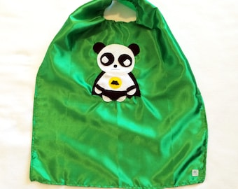 Team Super Animals - Flying Panda Green Cape