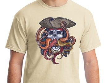 Colorful Steampunk Theme Pirate Octopus Kraken