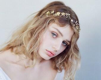 Bridal headband - Hummingbird fields headband - Style 746 - Made to Order