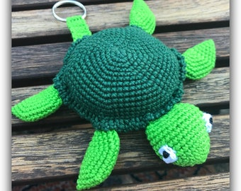 Turtle - Luggage tag crochet pattern (pdf)