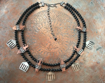 Herodotean Collection | Greek Amphorae and Temple Necklace | Aguja y Clavo Jewelry