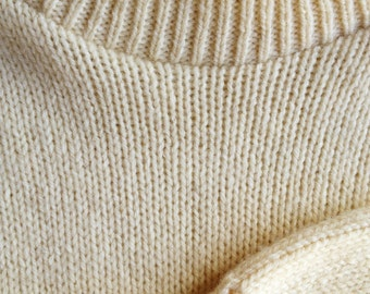 Vintage 1980s Ivory Mountain Wool Sweater