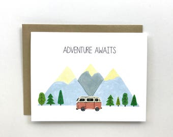 Adventure Awaits - Everyday Card, Just Becasuse Card, Congratulation Card