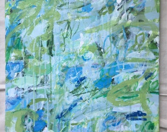 Abstract painting, abstract art, large abstract painting, green abstract modern painting, original abstract painting, abstract canvas art