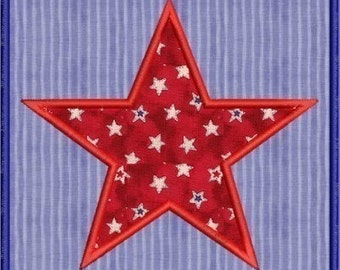 INSTANT DOWNLOAD Star in a square Applique designs