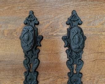 2 Black Metal  Door Knob Hook Heavy Duty Hooks Towel Holder Coat
