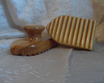 Wooden wet felting tool