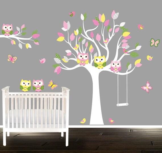 Exceptional Mädchen Eule Wandtattoos, Kindergarten Aufkleber, Mädchen Kinderzimmer Baum,  Wandtattoo Eule