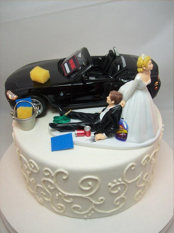 Funny Car Wash BMW Z4 Convertible Black Vintage Auto Wedding