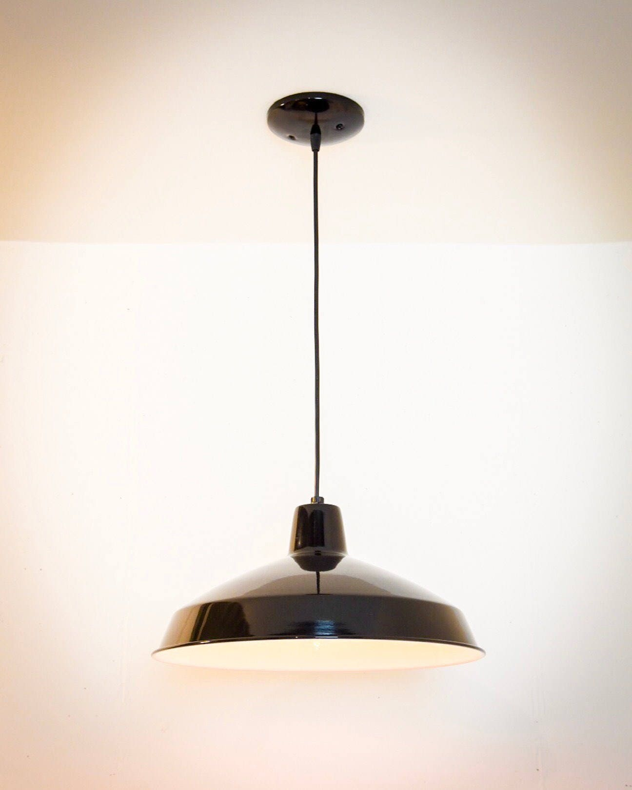 pendant industrial listing light vintage black barn style lighting rustic il lamp ceiling fullxfull