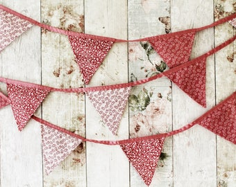 Róisín: Cute Pink Floral and Paisley Bespoke Bunting