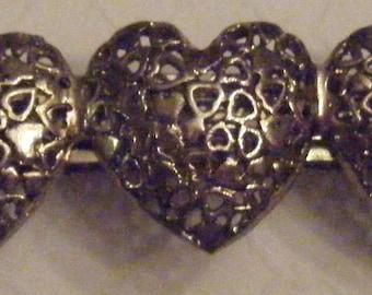 Vintage 3 Heart Barrettes