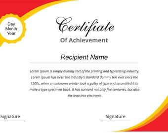 Custom Certificate Design Digital Download