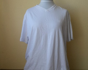 Vintage Hugo Boss Shirt, Hugo Boss Tshirt, White tshirt, Simple white tshirt, Mens Tshirt, Hugo Boss top, Size XL