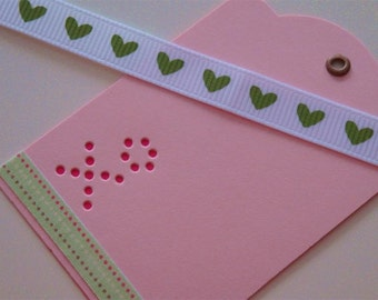 XO Kisses - Three (3) Premium Hand-hammered Gift Art Tags - Textured Card Stock DDOTS