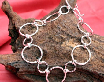 Sterling Silver Textured Circles
