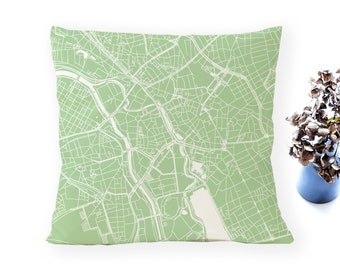 HANOVER Map, Throw pillow for your home decor, Map of HANOVER Cushion Cover, Custom Wedding Pillow Cover, anniversary gift
