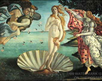 Poster, Many Sizes Available; Birth Of Venus, By Sandro Botticelli C. 1485–1486