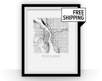 Portland Map Print