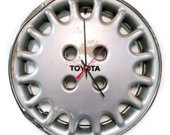 1989 - 1992 Toyota Corolla Hubcap Wall Clock - 1990 1991 - Industrial Home Decor