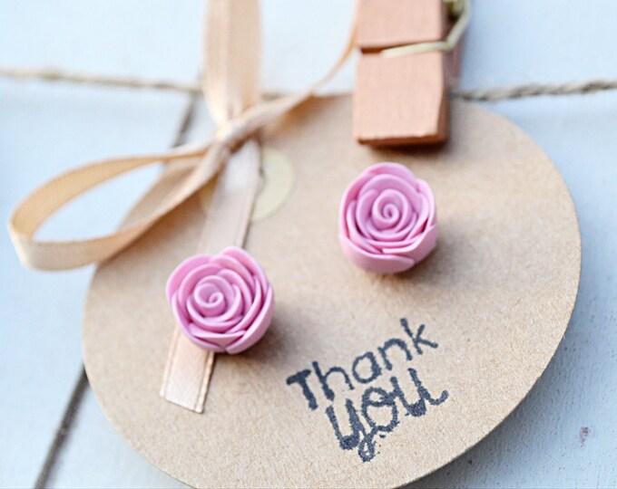 Beautiful handmade earrings - Special gift for her - Handmade rose stud earrings - I love you gift - Bridal shower party gift - Florist gift