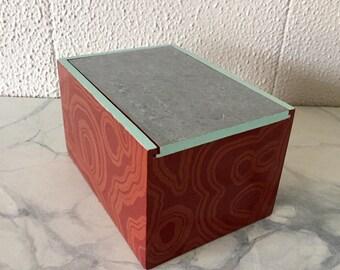 Faux Agate Slider Box