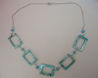Blue Block Necklace