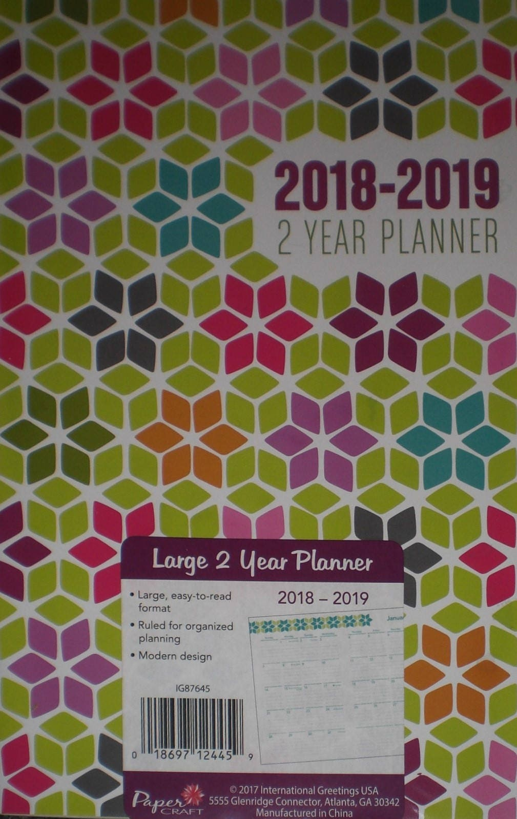 Diamond Flower Petals 2018 2019 2 Year Planner Scheduler