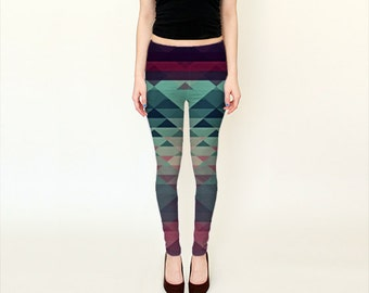 HIPSTERIA  LEGGINS #leggins #fashion #yoga #surf #abstract #geometetric #triangles #colorful #trend #cool #hipster