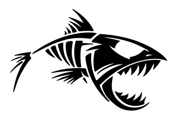 Bone Fish Car Decal