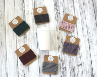 Coffee Cup Cozy Sleeve Coffee Cozy Knit Gift for Her Coffee Sleeve Coffee Lover Gift Crochet Teacher Gift Friend Gift