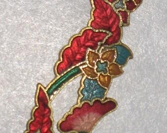 Beautiful Floral Cloisonne Pendant