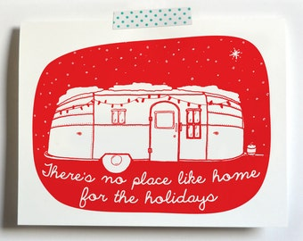 There's no Place like Home for the Holidays, Airstream Christmas card