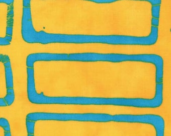 Moda - A Stitch in Color by Malka Dubrawsky Geometric 4x4 in Yellow Turquoise 23202-12