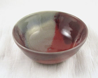 Ceramic Bowl, Copper Red Bowl, Red and Purple, Wheel Thrown Bowl, Pottery Serving Bowl, Stoneware Soup Bowl - Pottery Bowl, Cereal Bowl