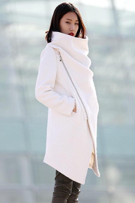 Winter coat, Wool Coat, coat, White coat, womens jackets, white wool coat, coats, jackets, womens coats, winter coat women, wool coats C182
