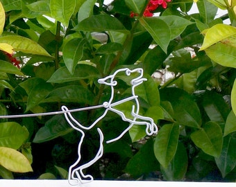 Wire Dog On Leash (Jumping)