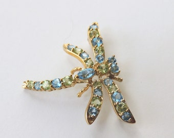 Yellow Gold Dragonfly Pin