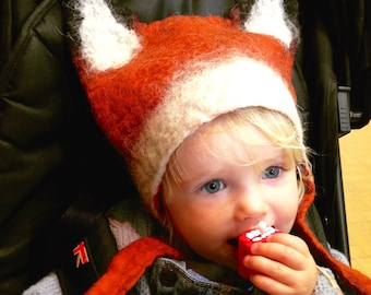 Kids Fox Cub hat Fantastic Mr Fox World Book Day fancy dress costume headwear for boys and girls childrens dressing up
